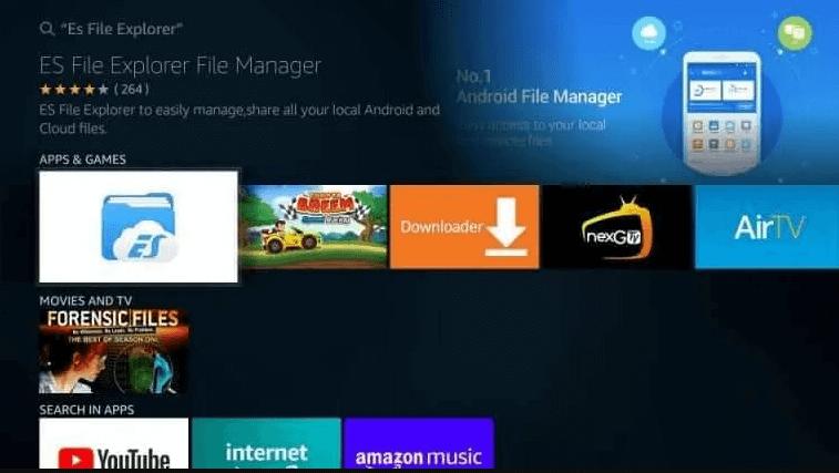 Choose ES File Explorer