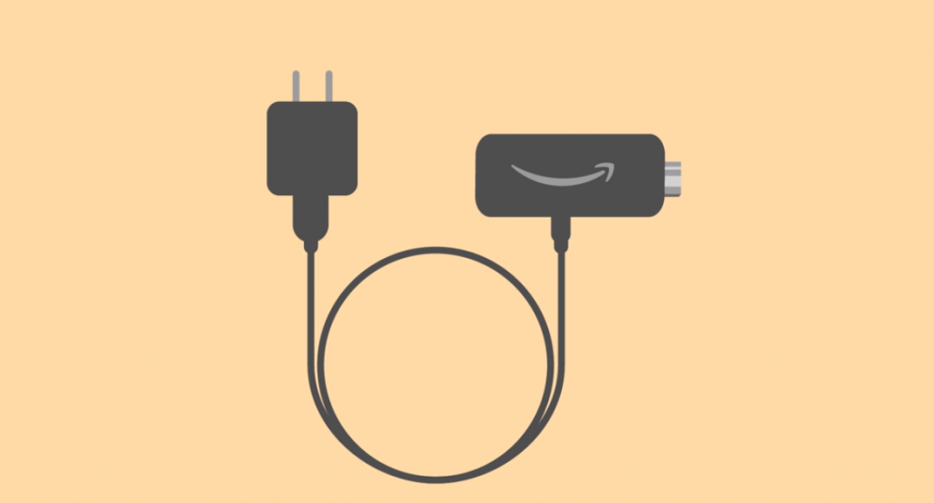 Connect Firestick to Power Adapter using USB cable