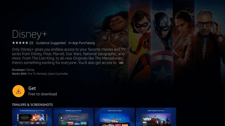 Download Disney Plus on Firestick