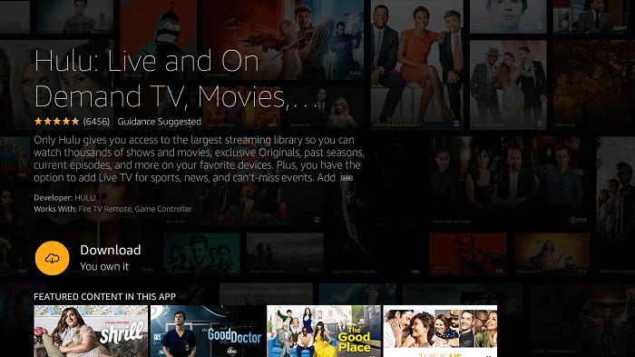 Download Hulu on Firestick