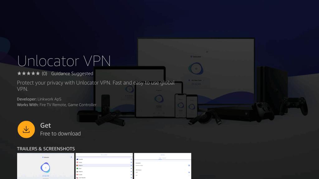 Download Unlocator VPN for Firestick