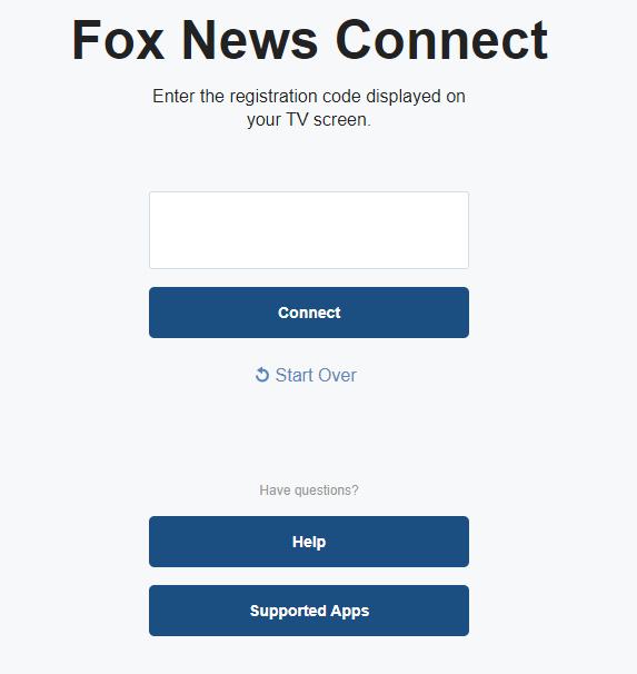 Enter Activation Code to Watch Fox News on Firestick