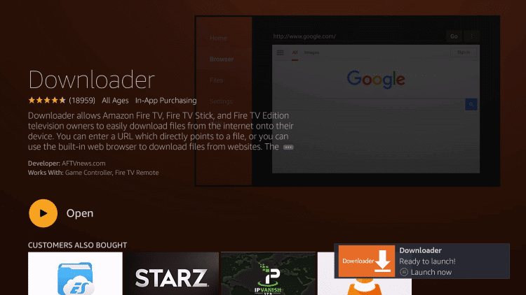 Launch Downloader for Firestick