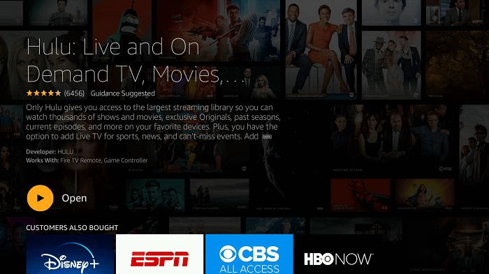 Launch Hulu on Firestick