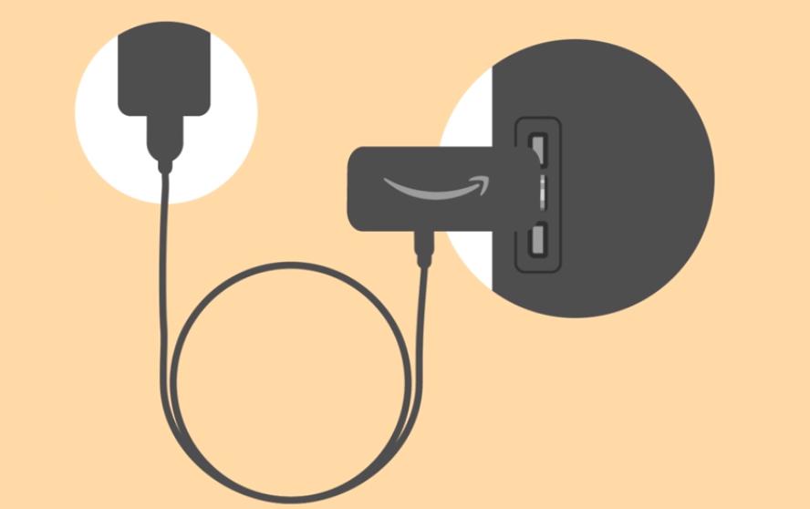 Plug in Firestick to TV