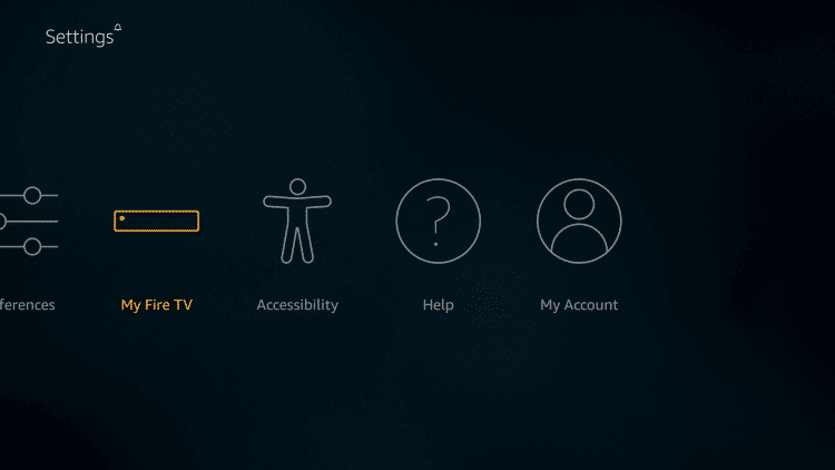 Tap on My Fire TV