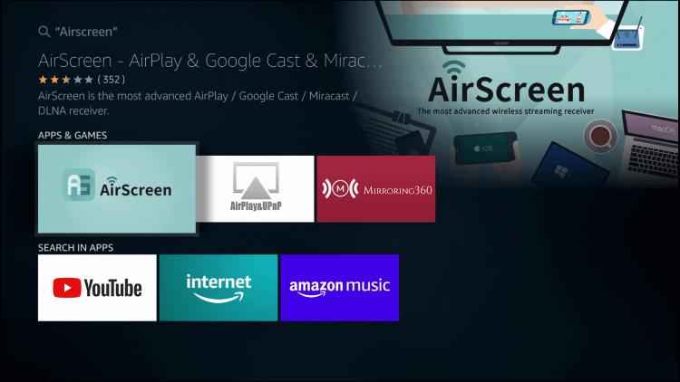 Choose AirScreen
