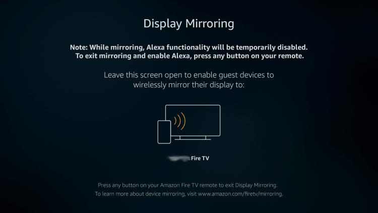 Display Mirror Prompt - Cast to Firestick