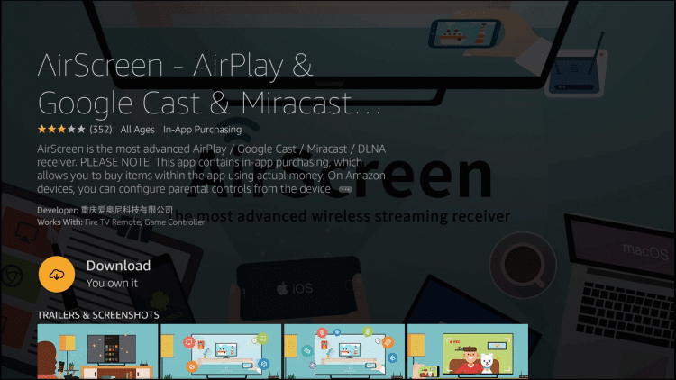 Download AirScreen - Cast to Firestick