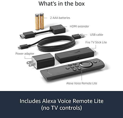 Fire TV Stick Lite Inside the Box