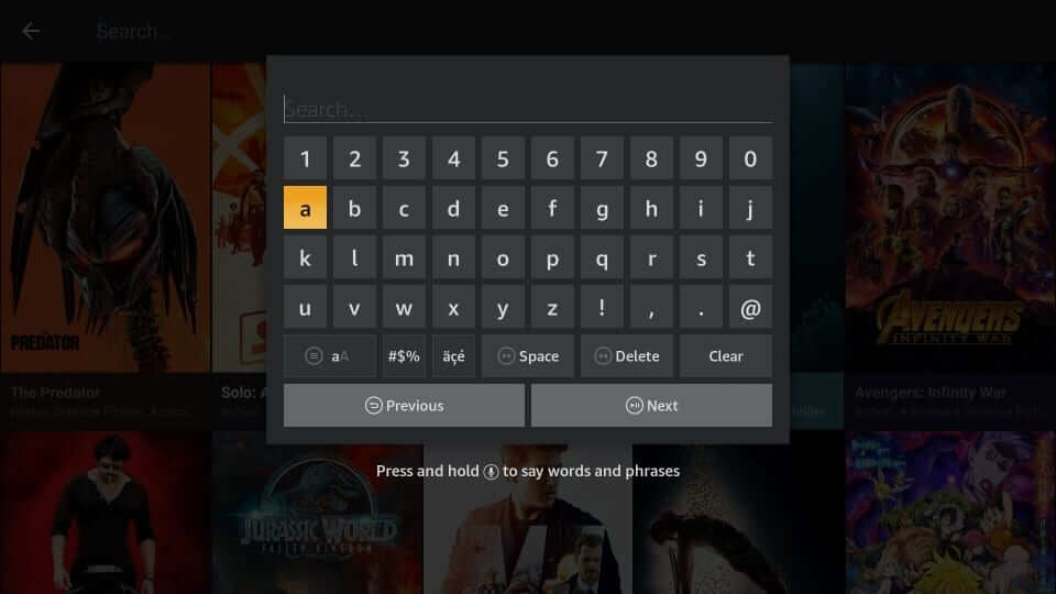Search for Contents - Cinema Apk Firestick