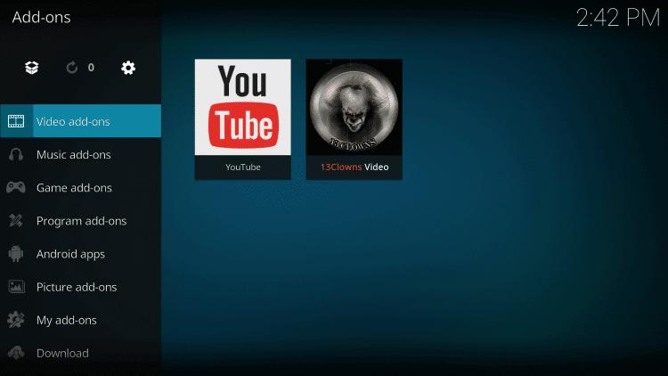 Video addons - 13 Clowns Kodi Addon