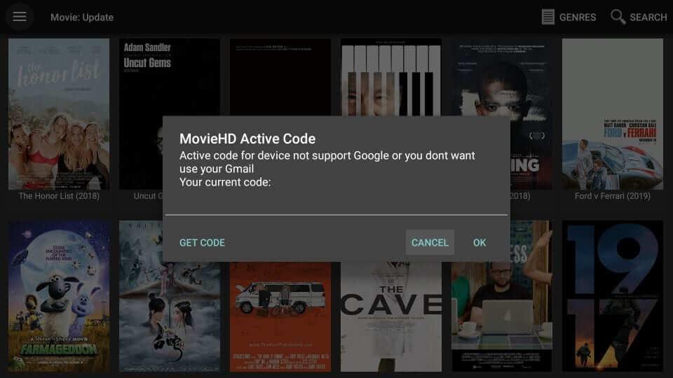 Activation Code - Movie HD Apk