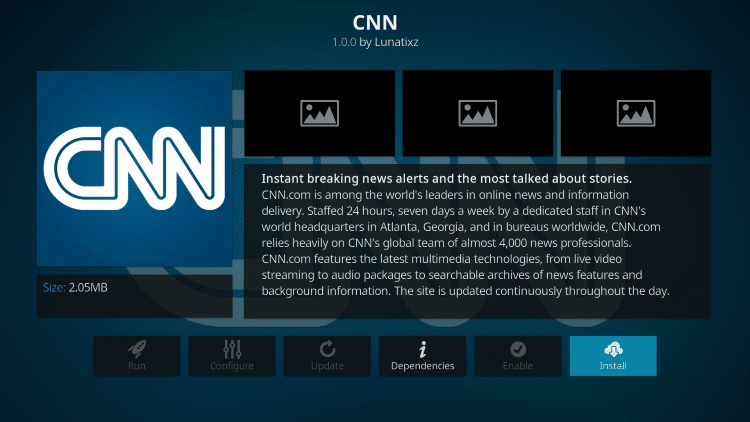 CNN - Best Kodi Addons