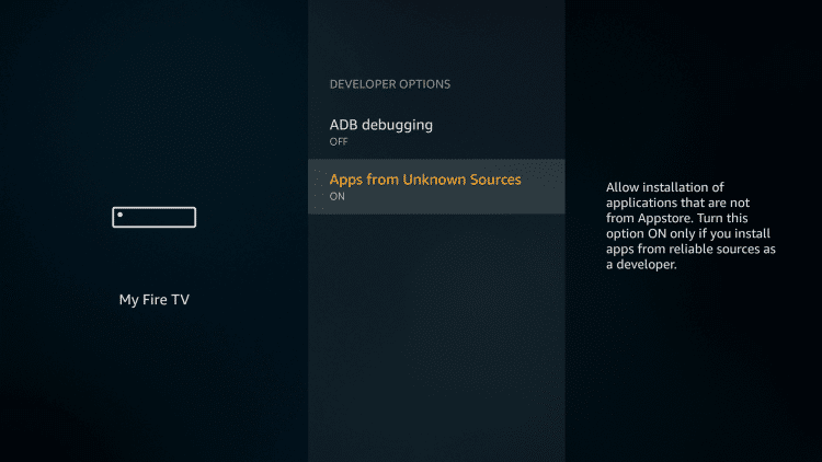 Choose Apps from Unknown Sources