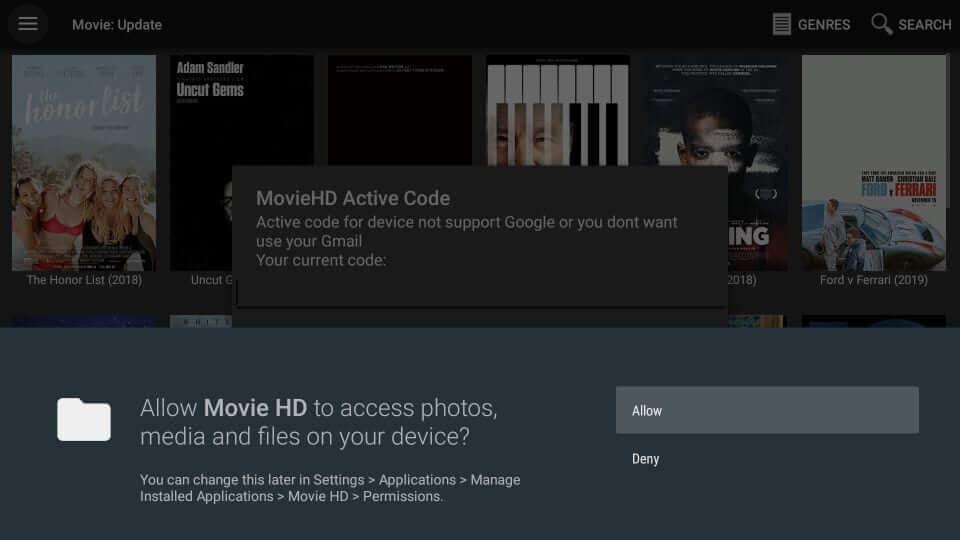 Click Allow - Movie HD Apk