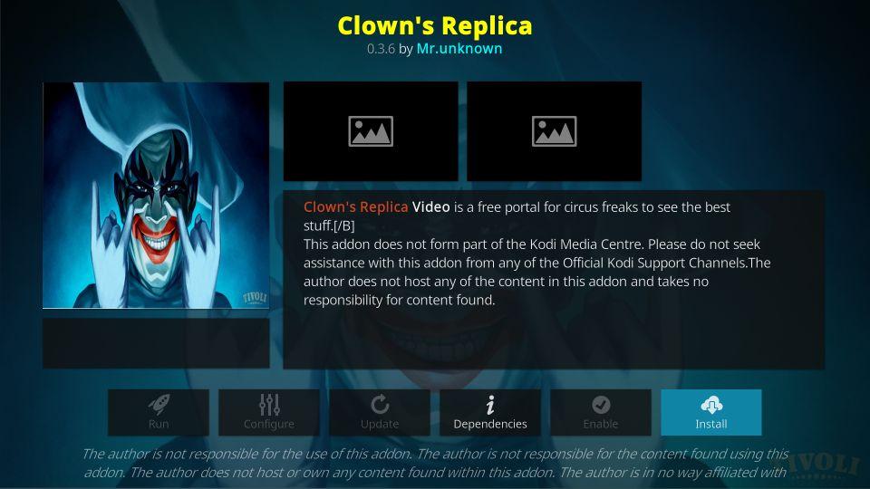Clowns Replica - Best Kodi Addons
