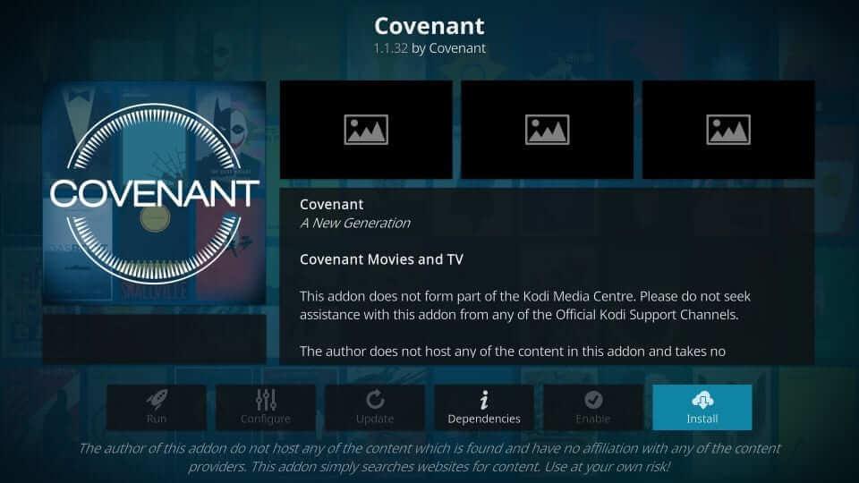 Covenant - Best Kodi Addons