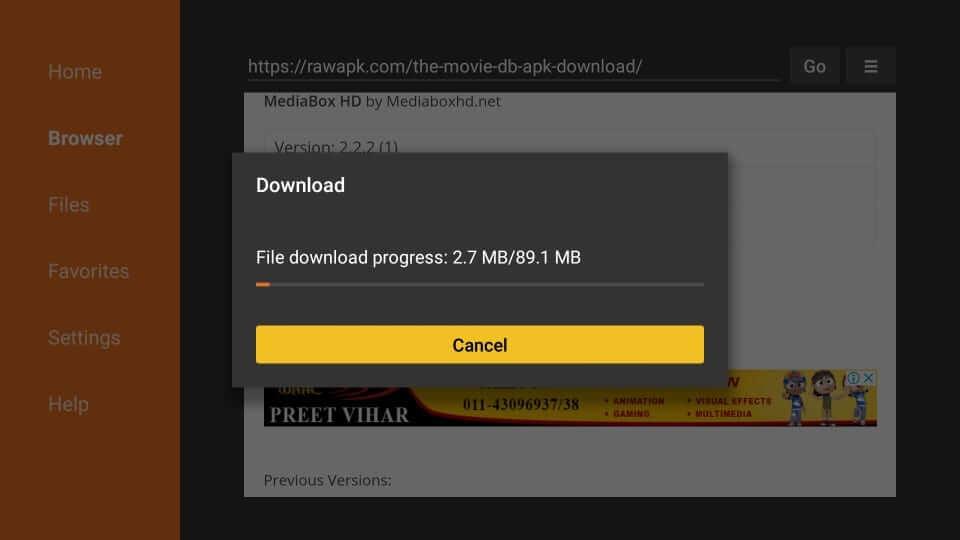 Download Progress - MediaBox HD
