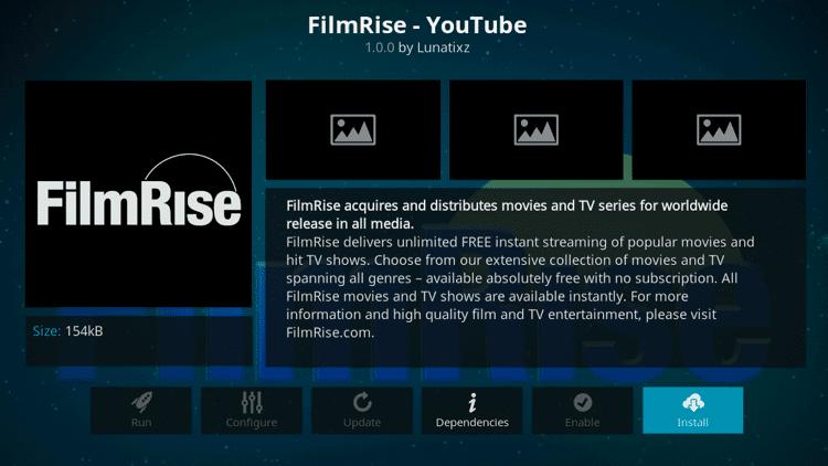 FilmRise - Best Kodi Addons