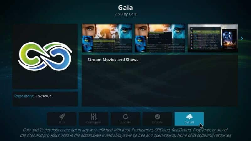 Gaia - Best Kodi Addons