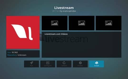 Livestream - Best Kodi Addons