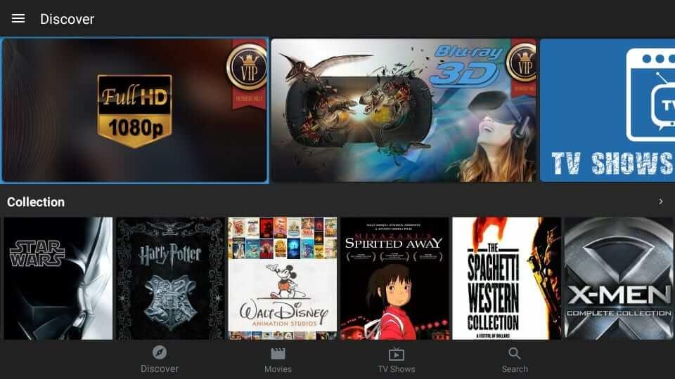 MediaBox HD Apk Home Screen
