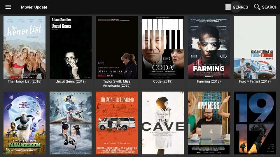 Movies HD Apk Home Screen