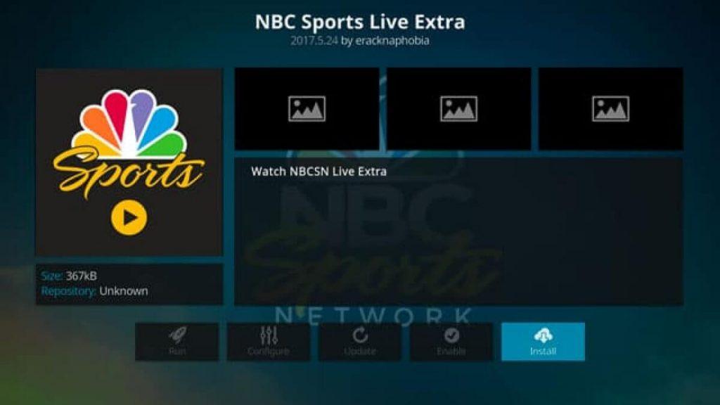 NBC Sports Live Extra - Best Kodi Addons