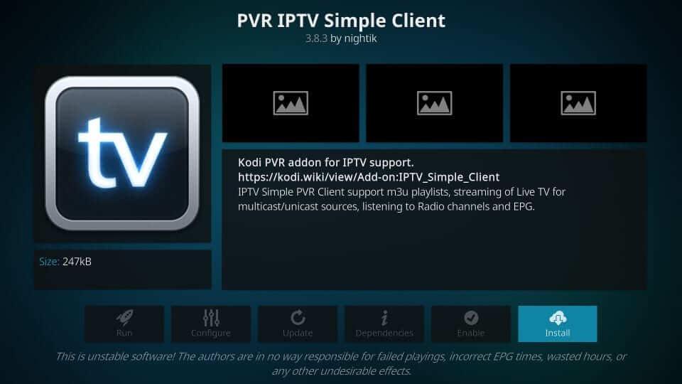 PVR IPTV Simple Client - Best Kodi Addons