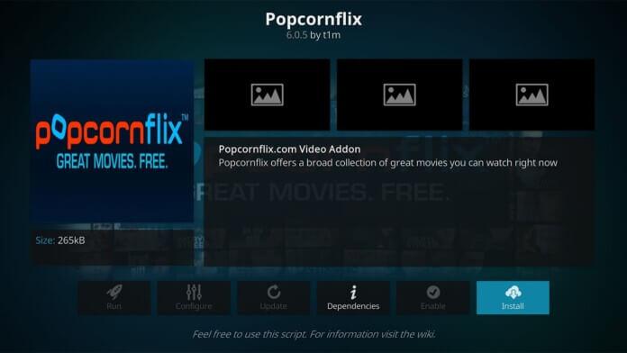 Popcornflix - Best Kodi Addons