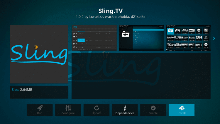 Sling TV - Best Kodi Addons