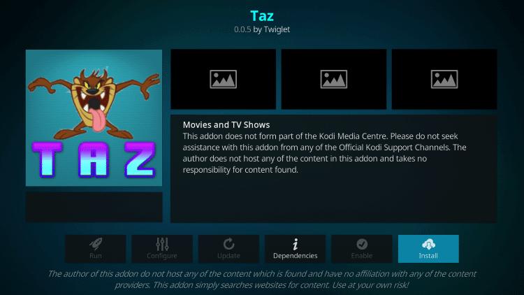 Taz - Best Kodi Addons