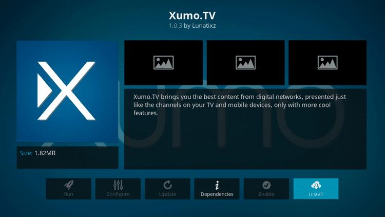 Xumo - Best Kodi Addons
