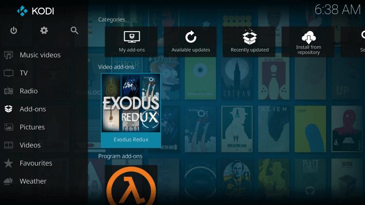 Choose Exodus Redux tile