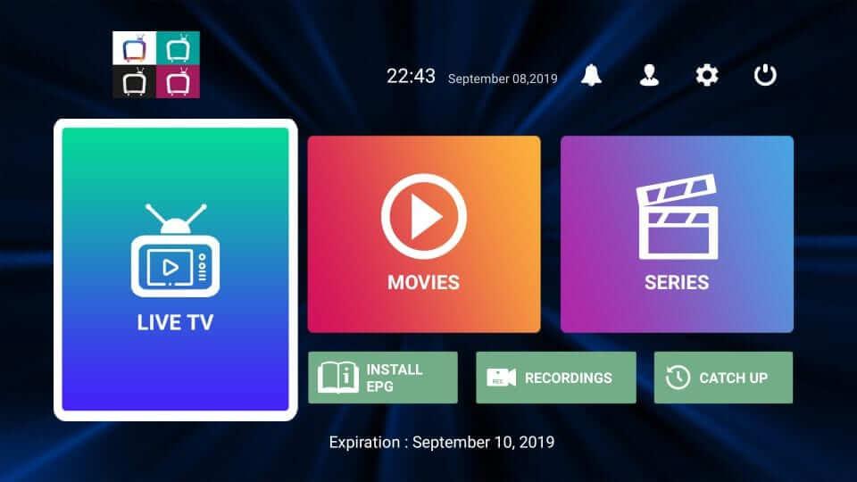 Helix TV Home Screen