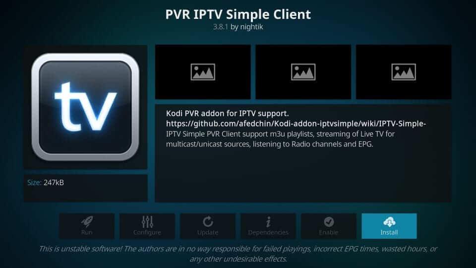 Install - Helix IPTV