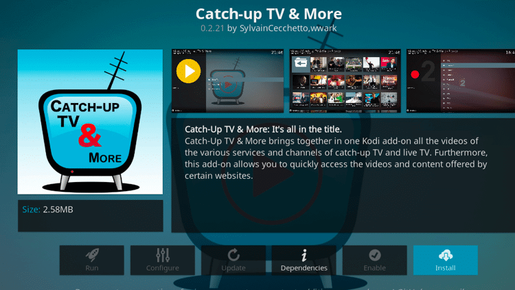 Catch Up TV & More - Live TV Addons Kodi