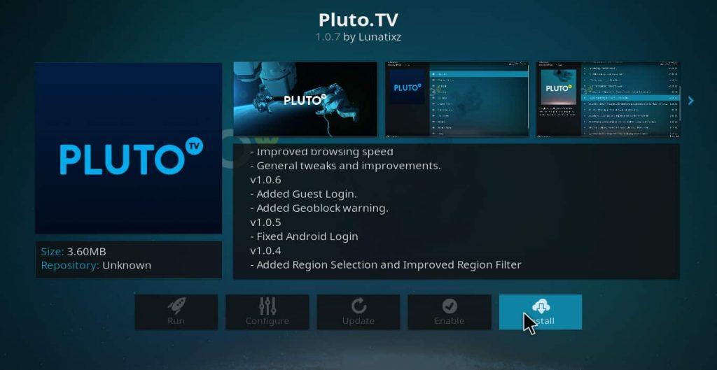 Pluto TV - Live TV Addons Kodi