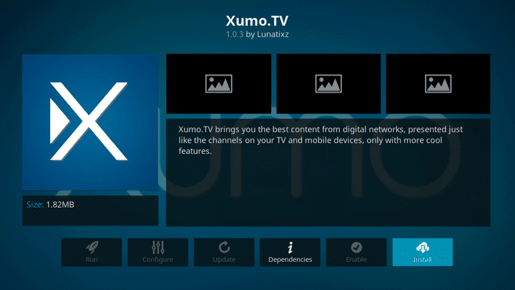 Xumo TV - Live TV Addons Kodi