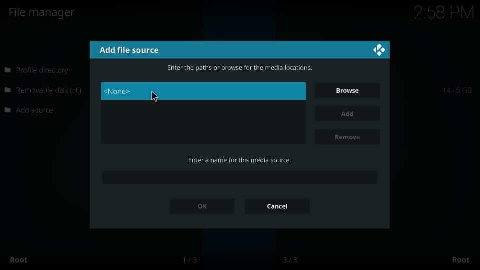 Choose None - Helix IPTV