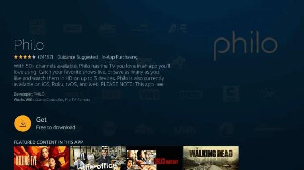 Download - Philo TV on Firestick
