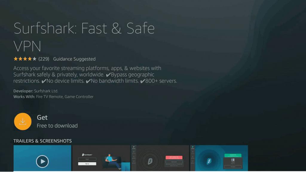 Get - Surfshark VPN Firestick