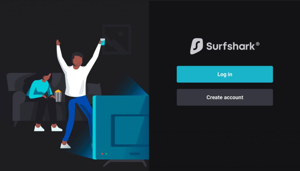 Login or Sign up - Surfshark VPN Firestick