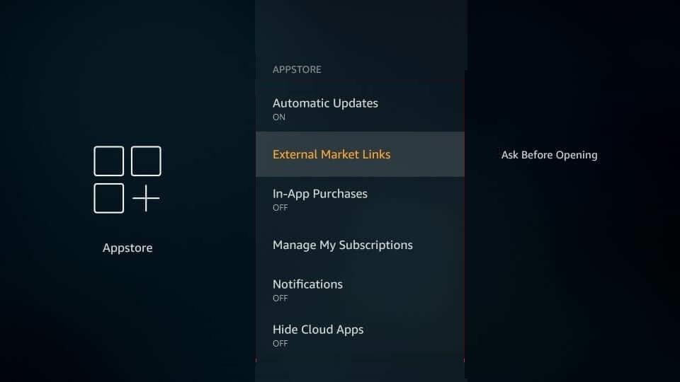 AppStore Settings - Best Firestick Settings