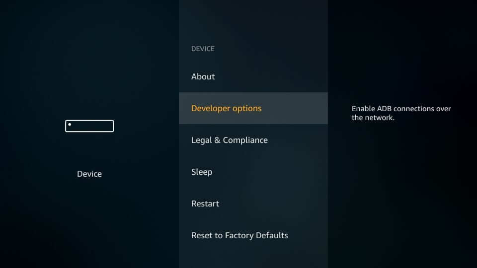 Developer options - Best Firestick Settings