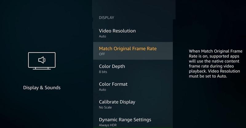 Display Options - Best Firestick Settings