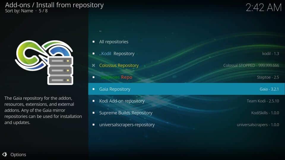 Select Gaia Repository