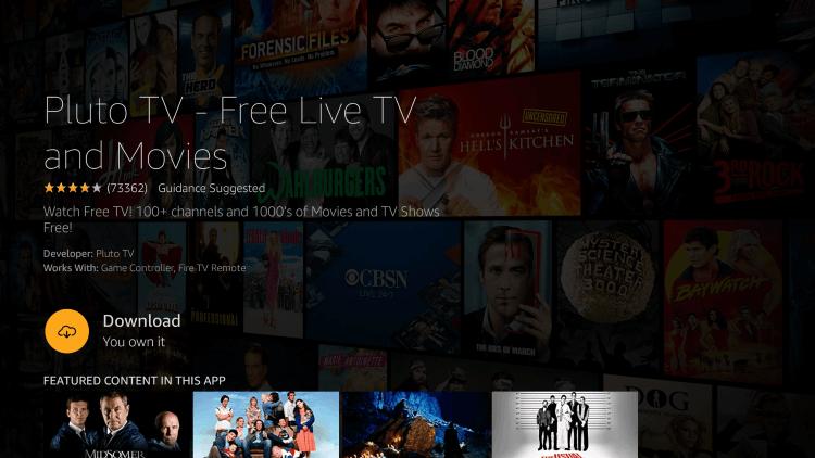 Download - Pluto TV on Firestick