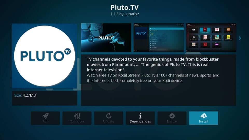 Install Pluto TV